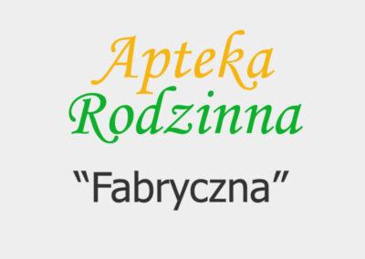 """Apteka Rodzinna """"Fabryczna"""""""